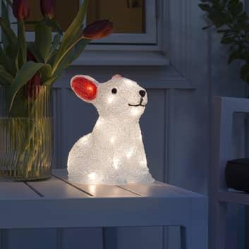 Figurine LED Lapin, sur batterie