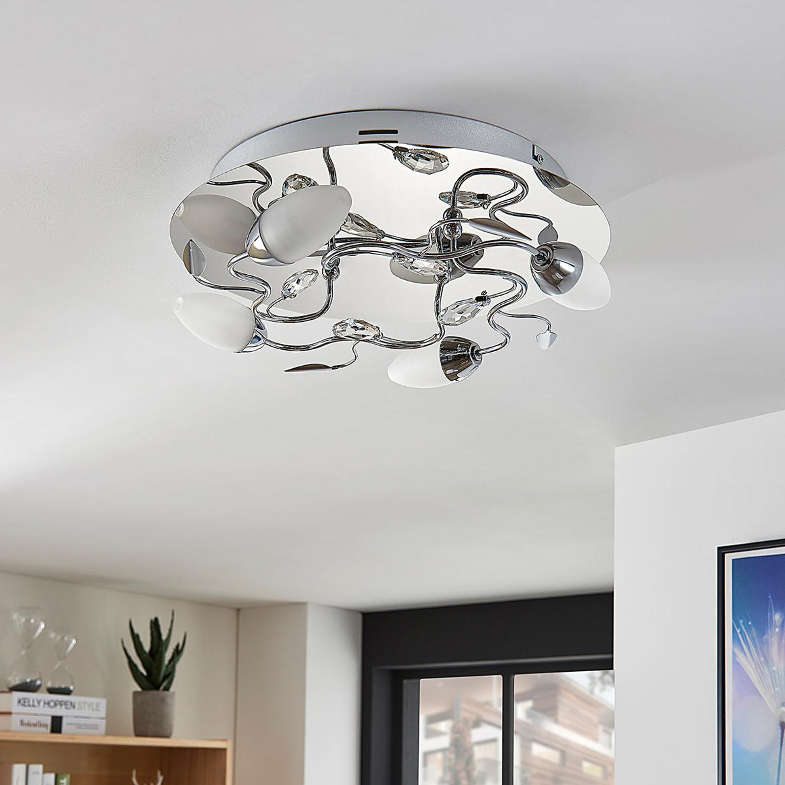 LED-Deckenleuchte Mischa, 4-fl., dimmbar, rund