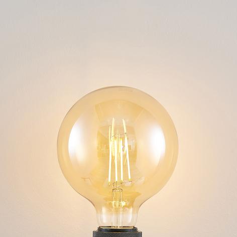 LED-pære E27 G125 6,5W 2 500K rav 3-step-dimmer