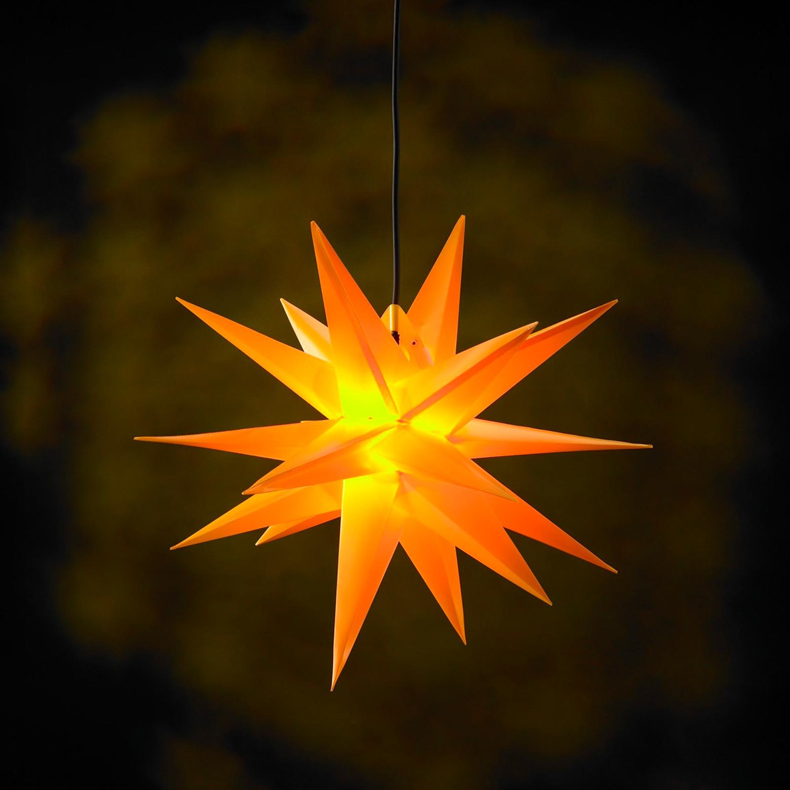 Gele kunststoffen ster Jumbo voor buiten 18 punten