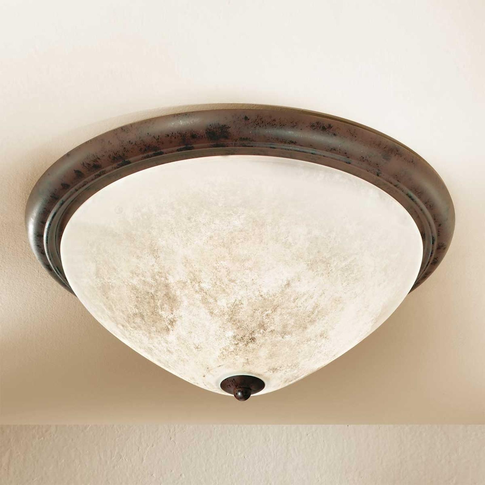 Ronde landhuis-plafondlamp Samuele