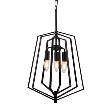 Lampada sospensione Slinky, 3 luci, nero, Ø 35 cm