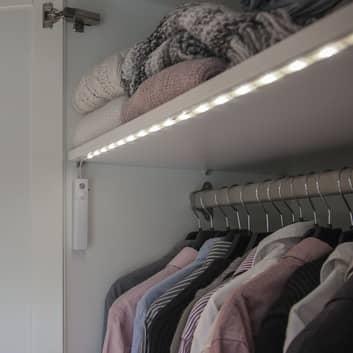 Cinta luminosa LED, sensor de movimiento, pilas