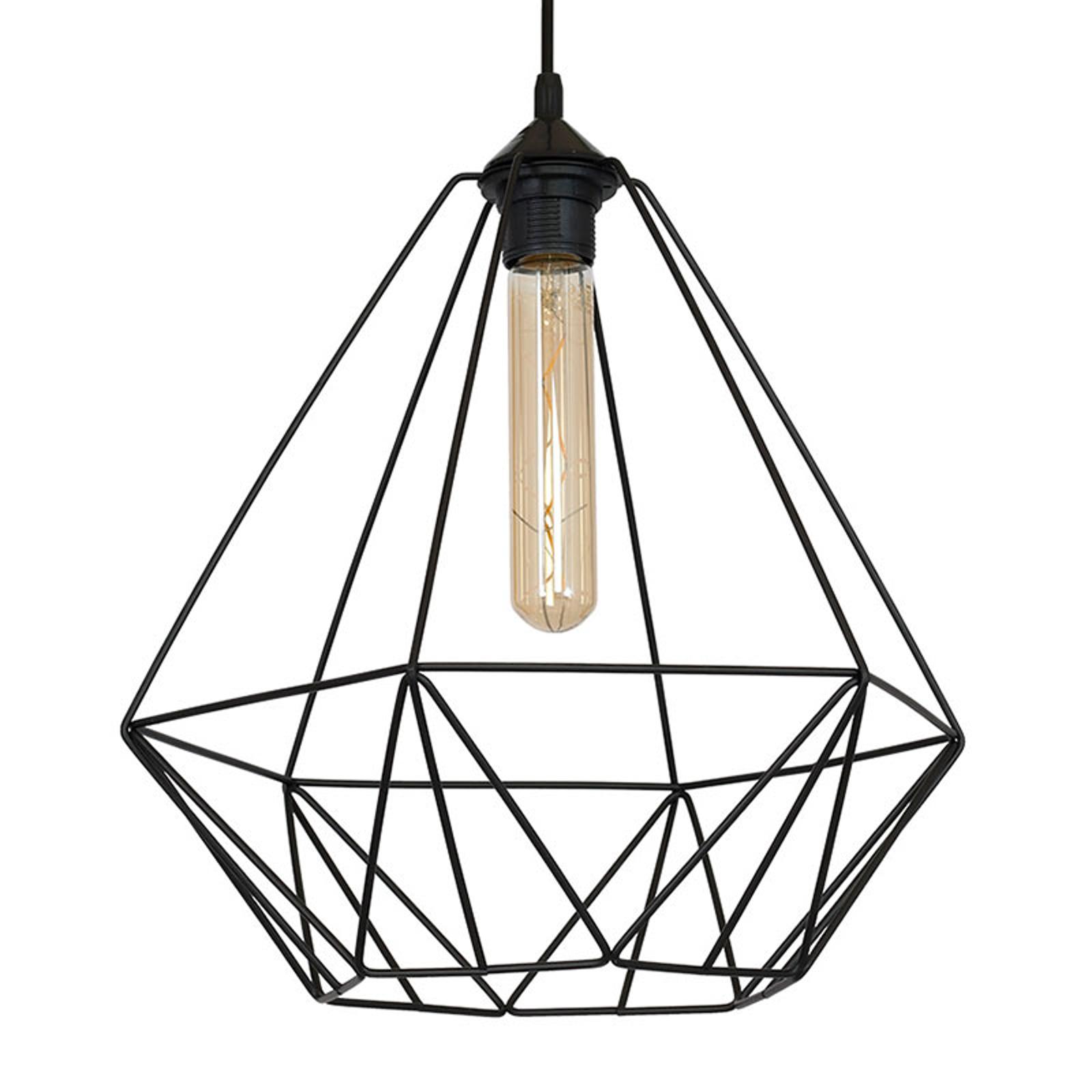 Lampa wisząca Basket z kloszem klatkowym