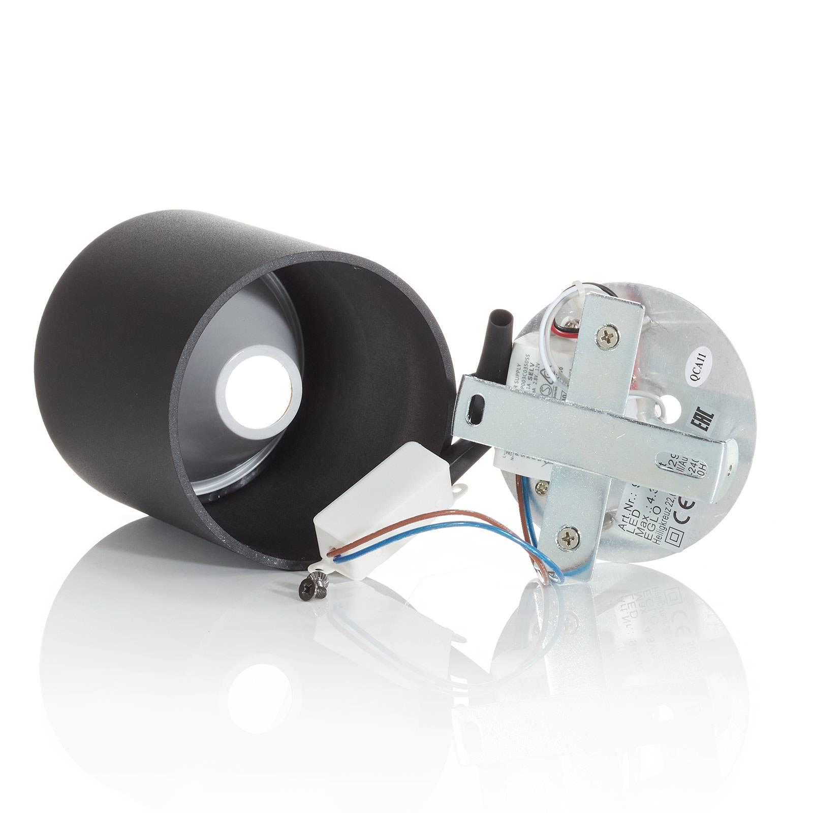 Lampa sufitowa LED Polasso okrągła, czarno-złota