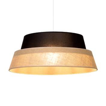 Lámpara colgante Jute, redonda, pantalla 2 colores