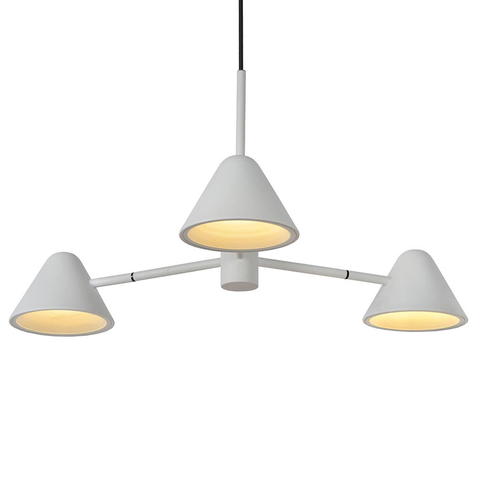 Devon LED-hængelampe, hvid