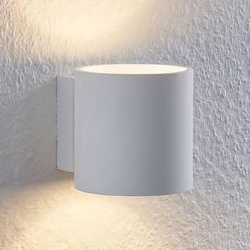 Lindby Mirza nástěnné světlo, kulaté, bílé