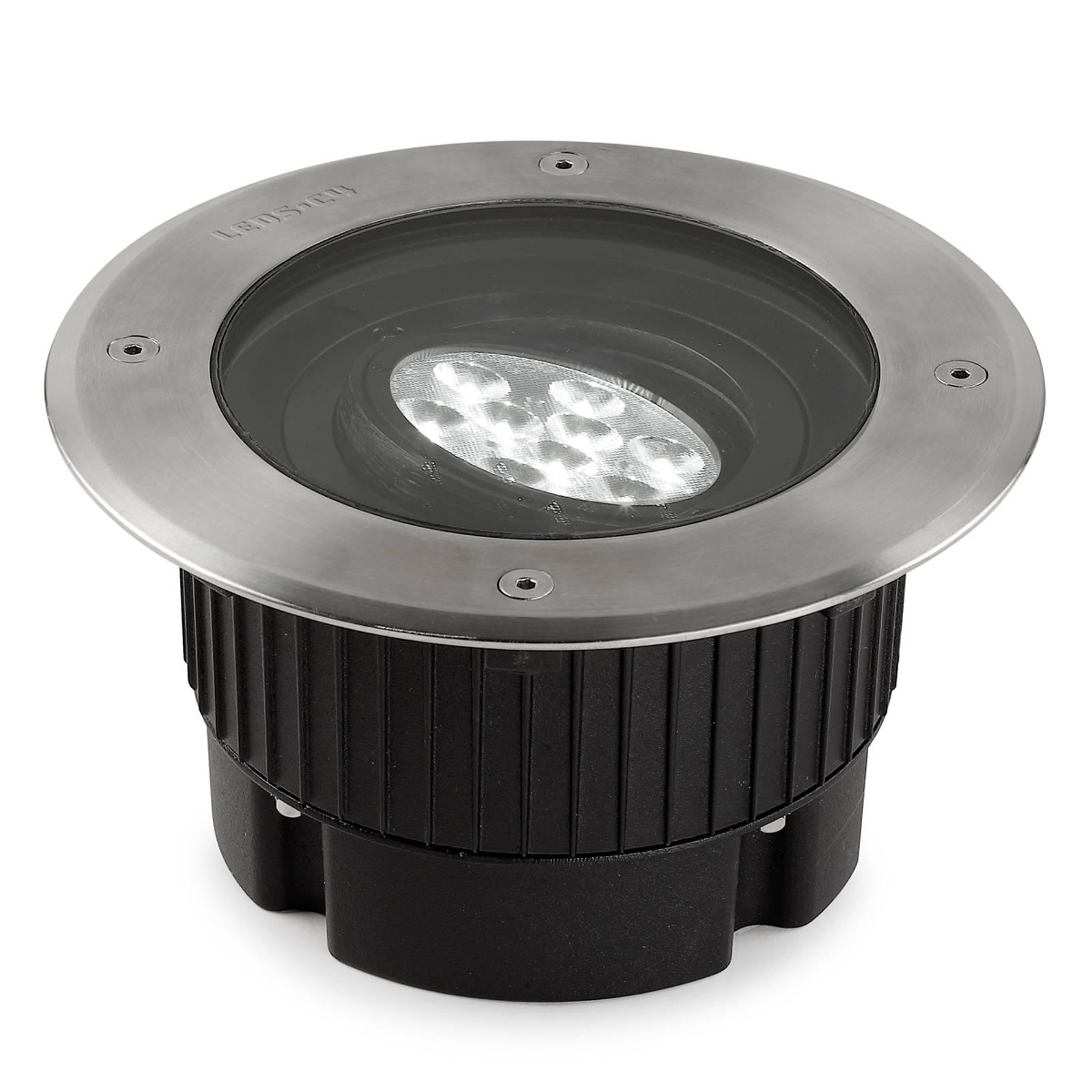 Gea - runde LED-Bodeneinbauleuchte