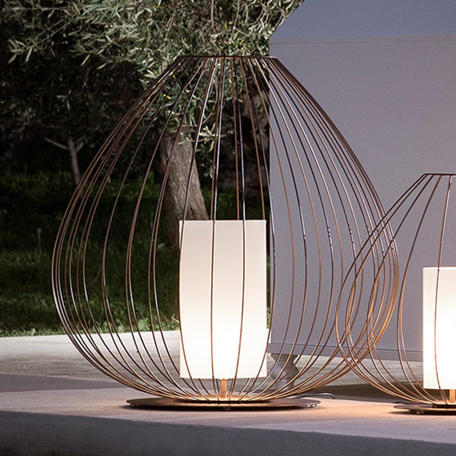 Karman Cell - lampe de sol cage, bronze, Ø84cm