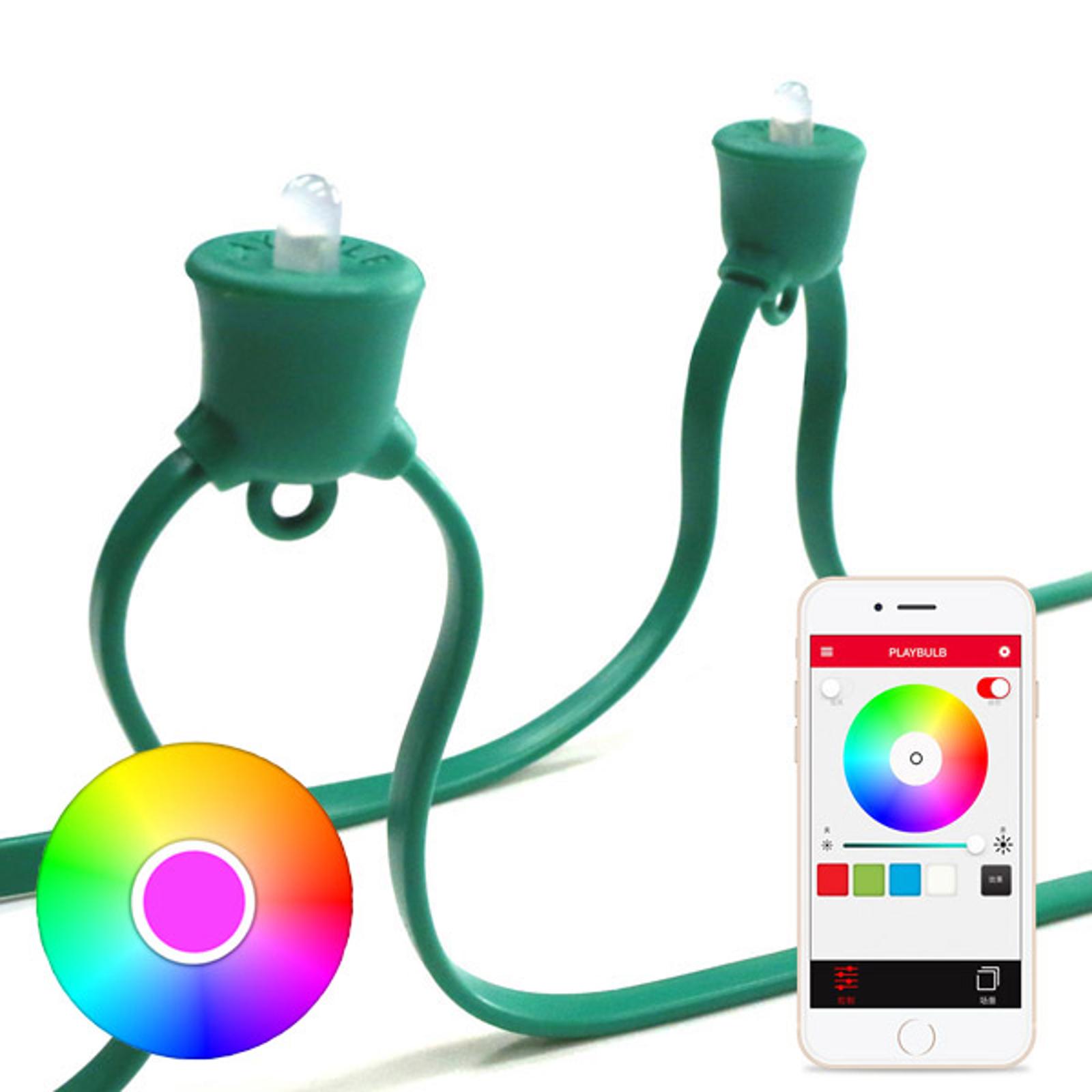 MiPow Playbulb String catena LED base, verde