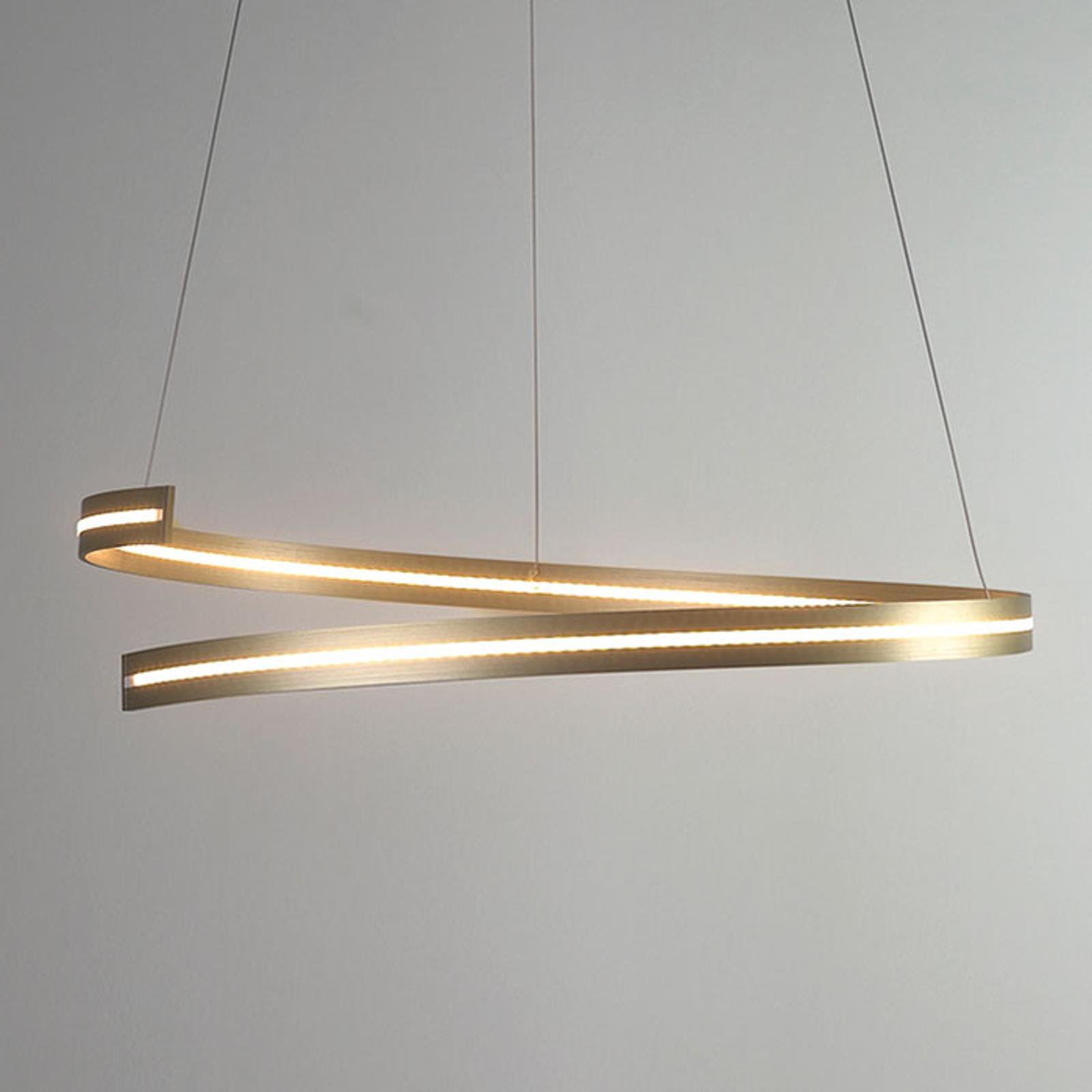 Bopp Break LED-hængelampe, 70 cm, lys guld