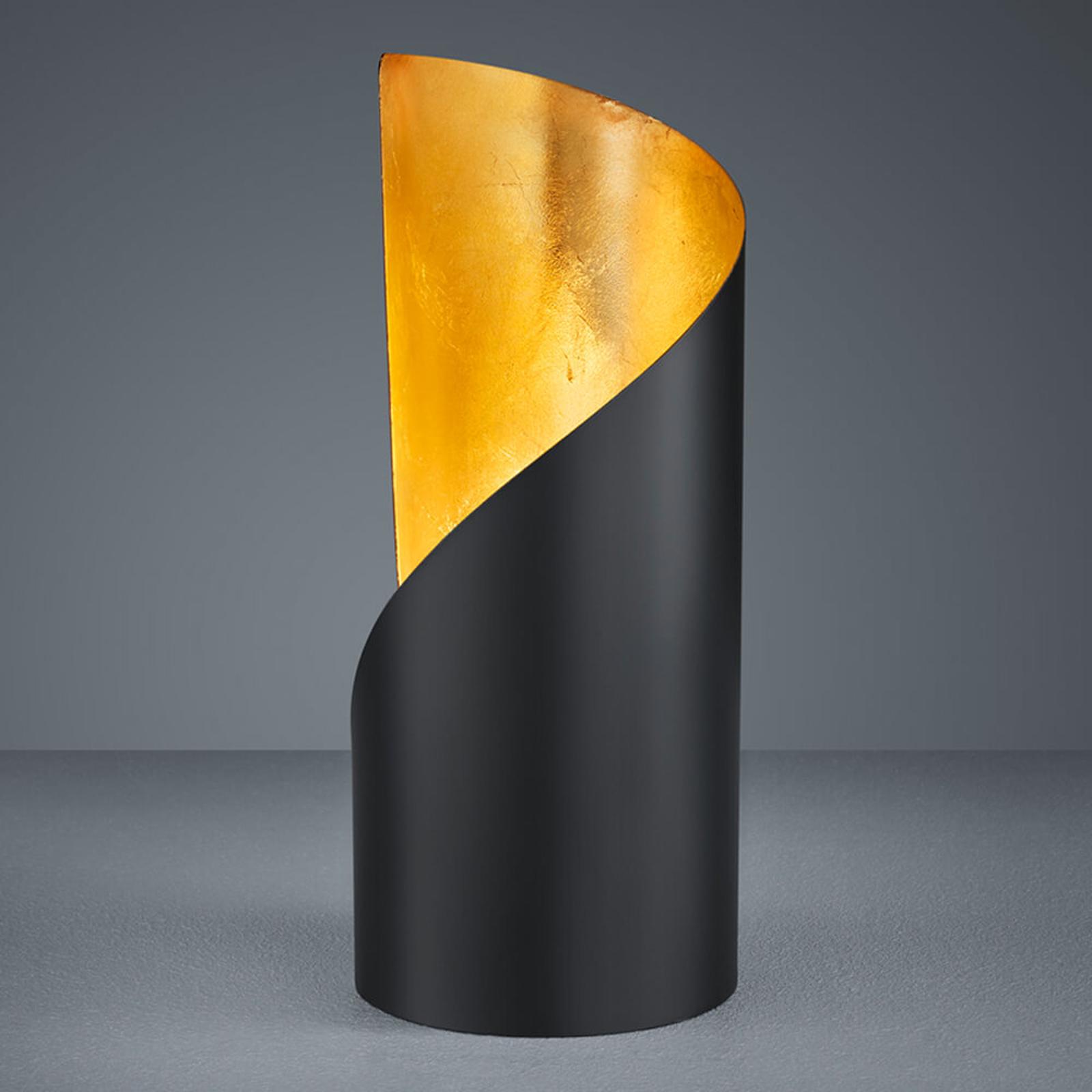Lampada da tavolo Frank - nero e oro