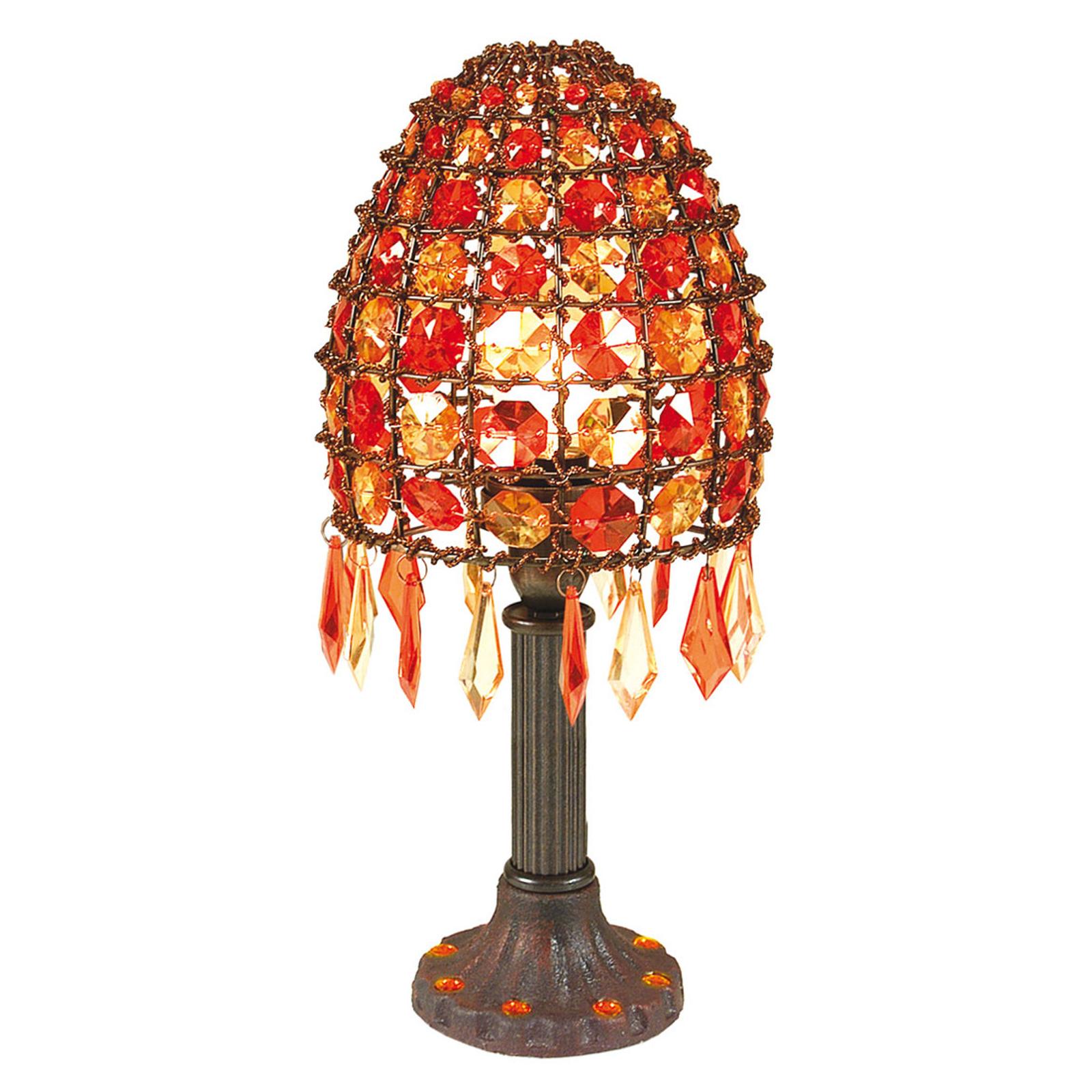 Bordslampa Bella med pärlor höjd 35 cm