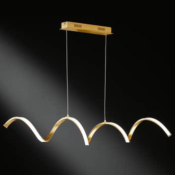 LED hanglamp Russell in edele goudkleur