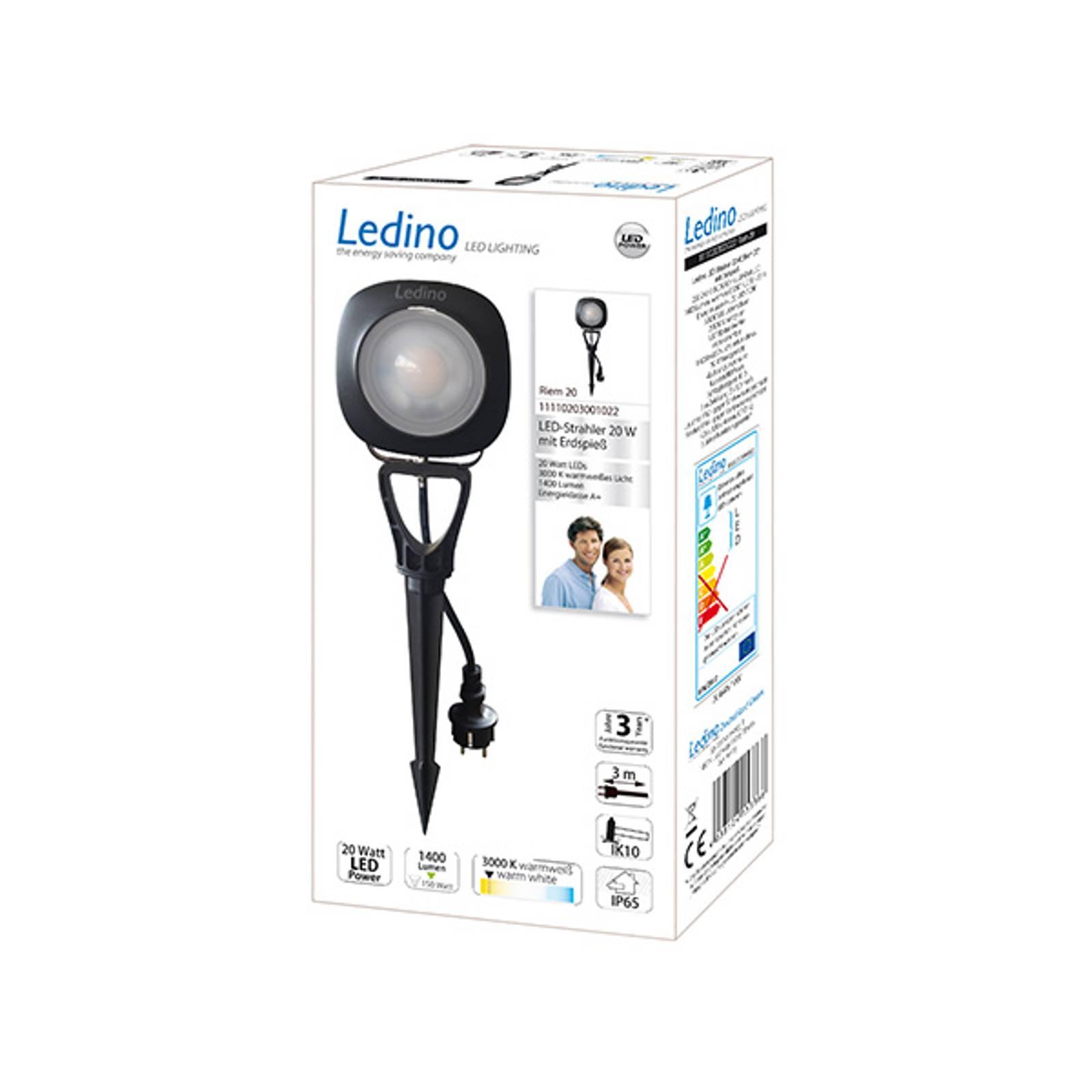 Faretto LED picchetto Riem, 20 Watt