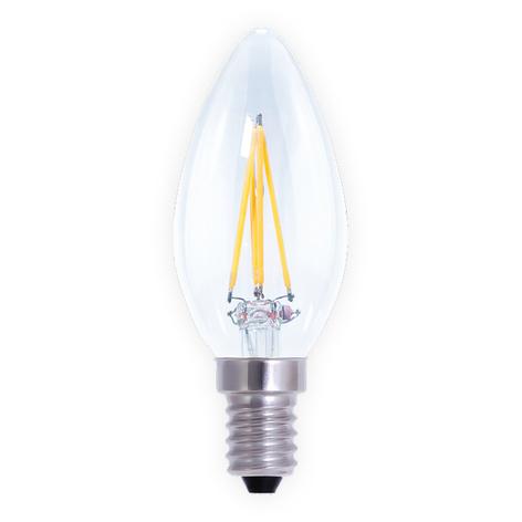 Bombilla LED con forma de vela E14 4W, aten.