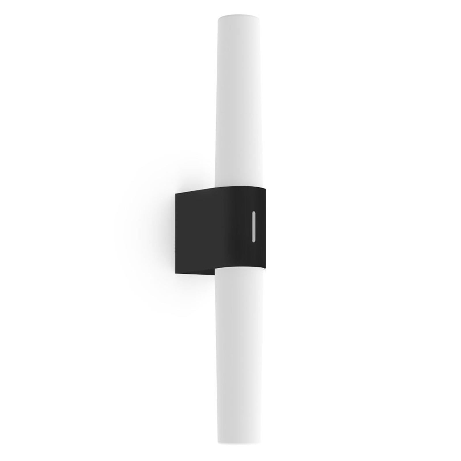 Aplique LED para baño Helva Double Basic, negro