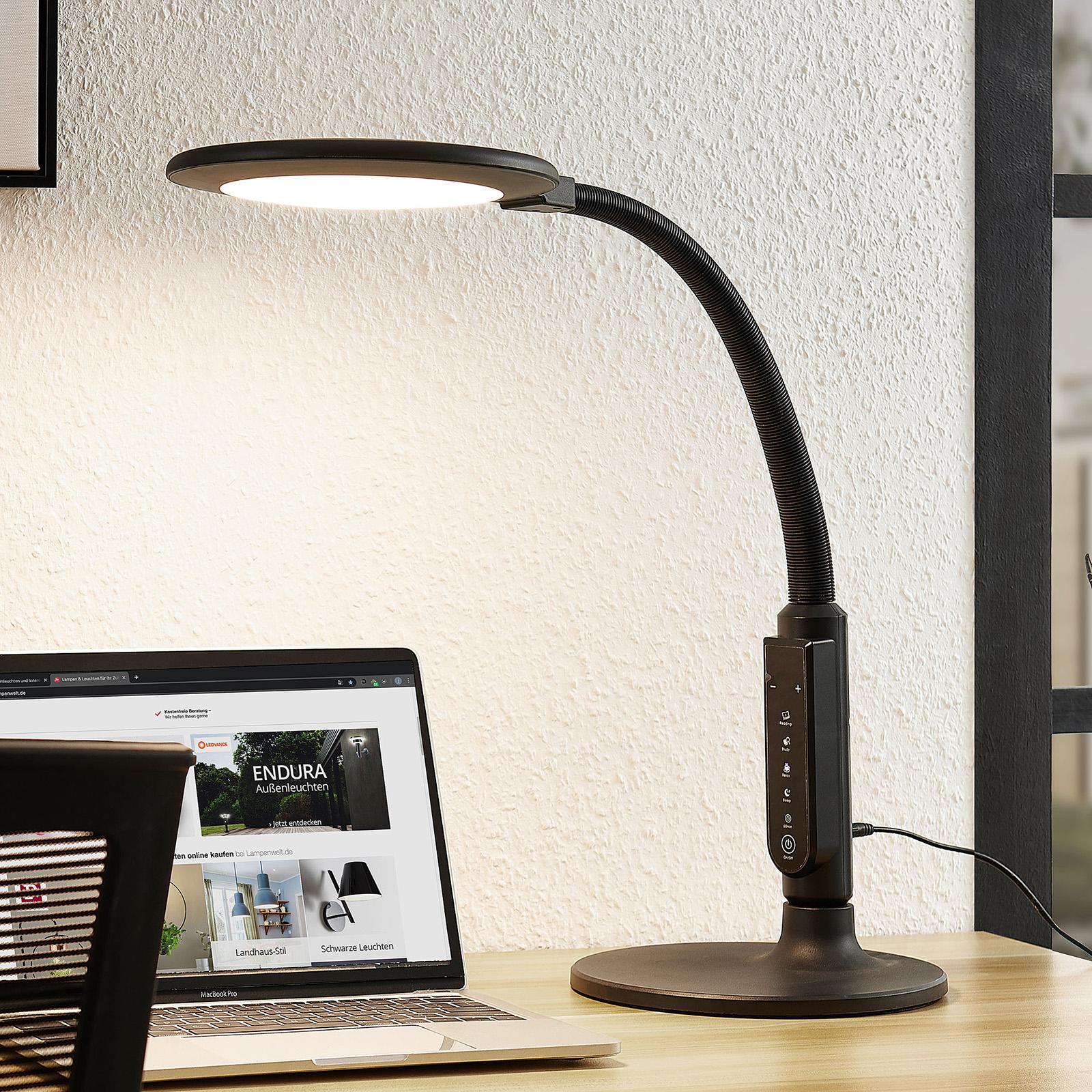 Arcchio Hanke lampka biurkowa LED, ściemniana