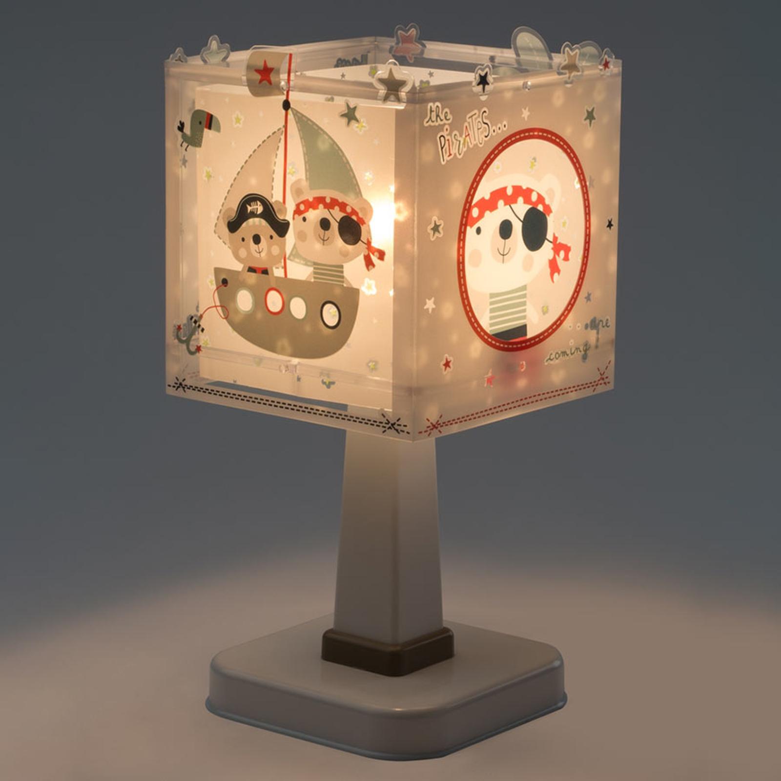 Pirates - hoekige kinderkamer tafellamp