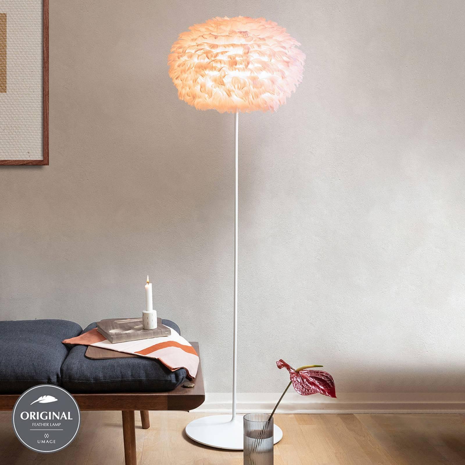 UMAGE Eos medium vloerlamp roze frame wit