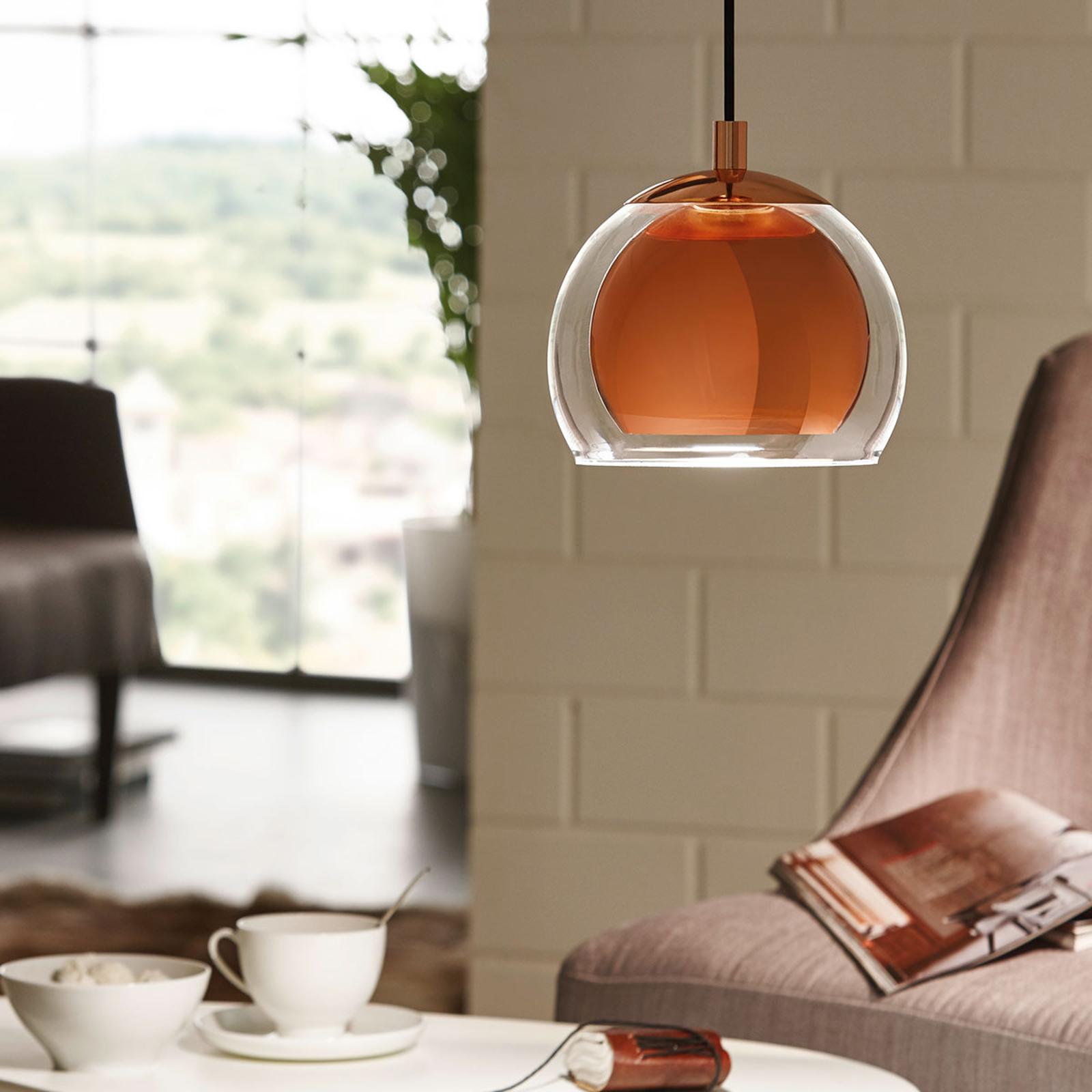Koperkleurige hanglamp Rocamar