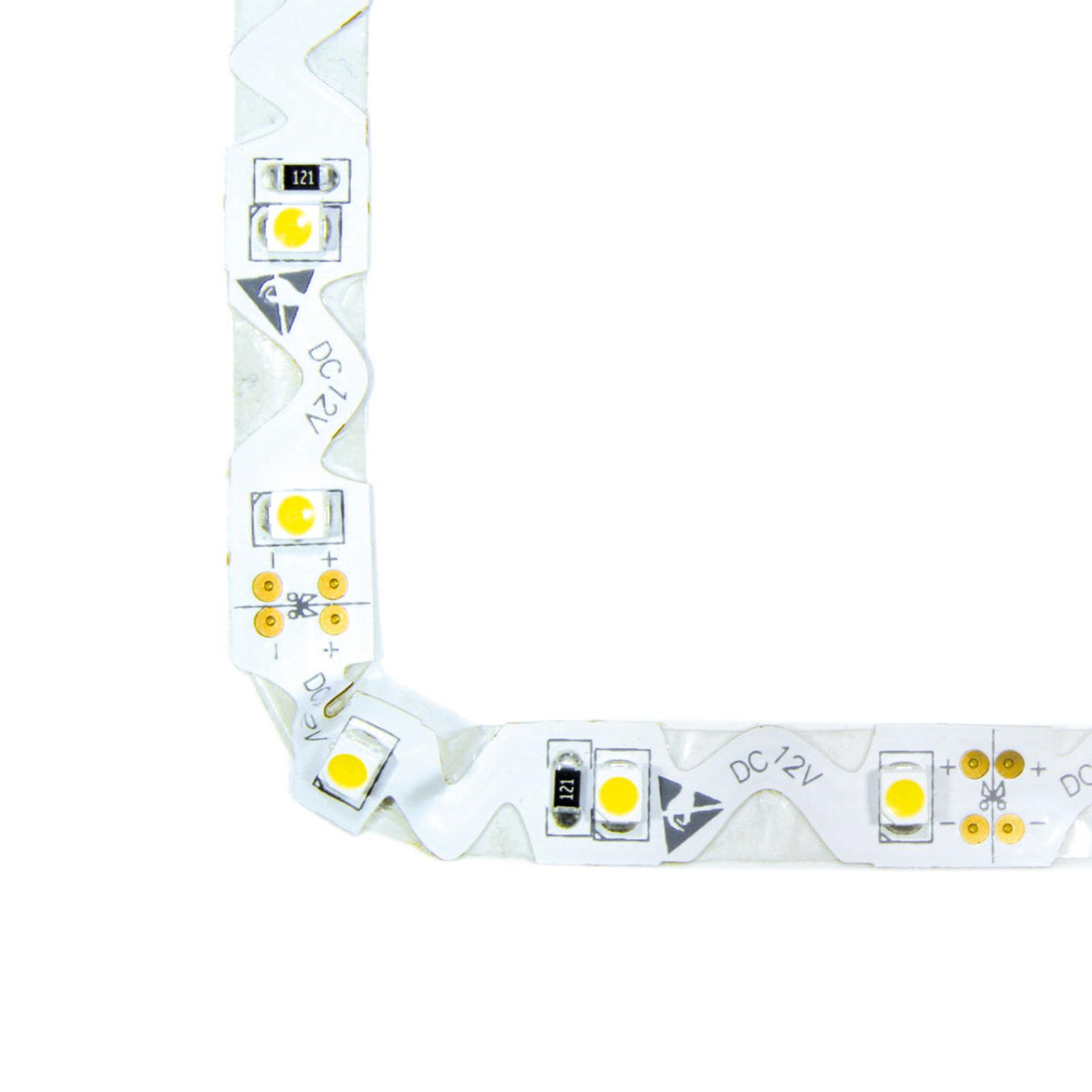 LED flex strip with a warm white luminous colour