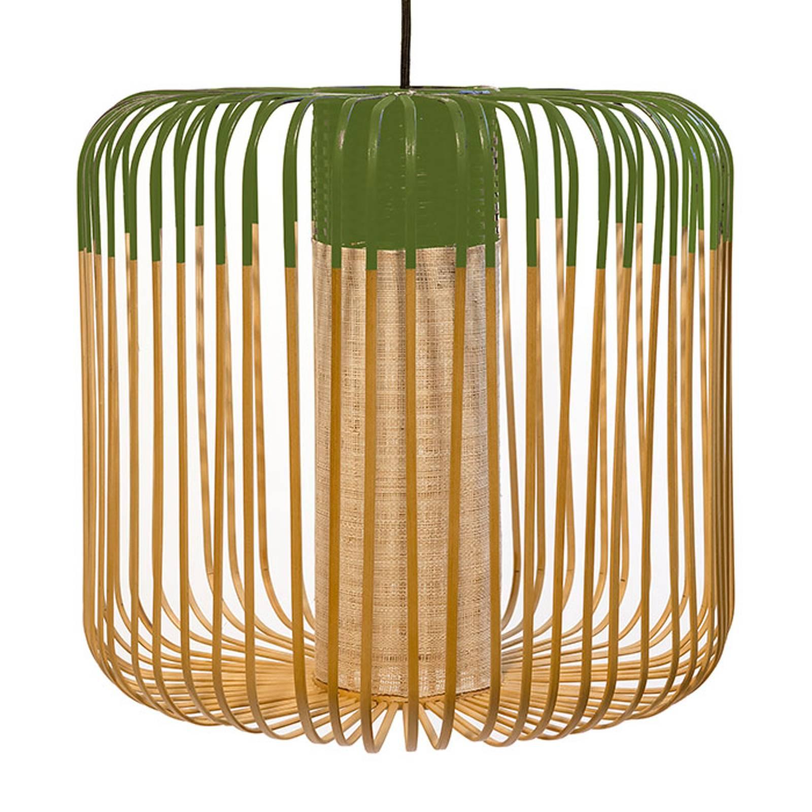 Forestier Bamboo Light M lampa wisząca zielona