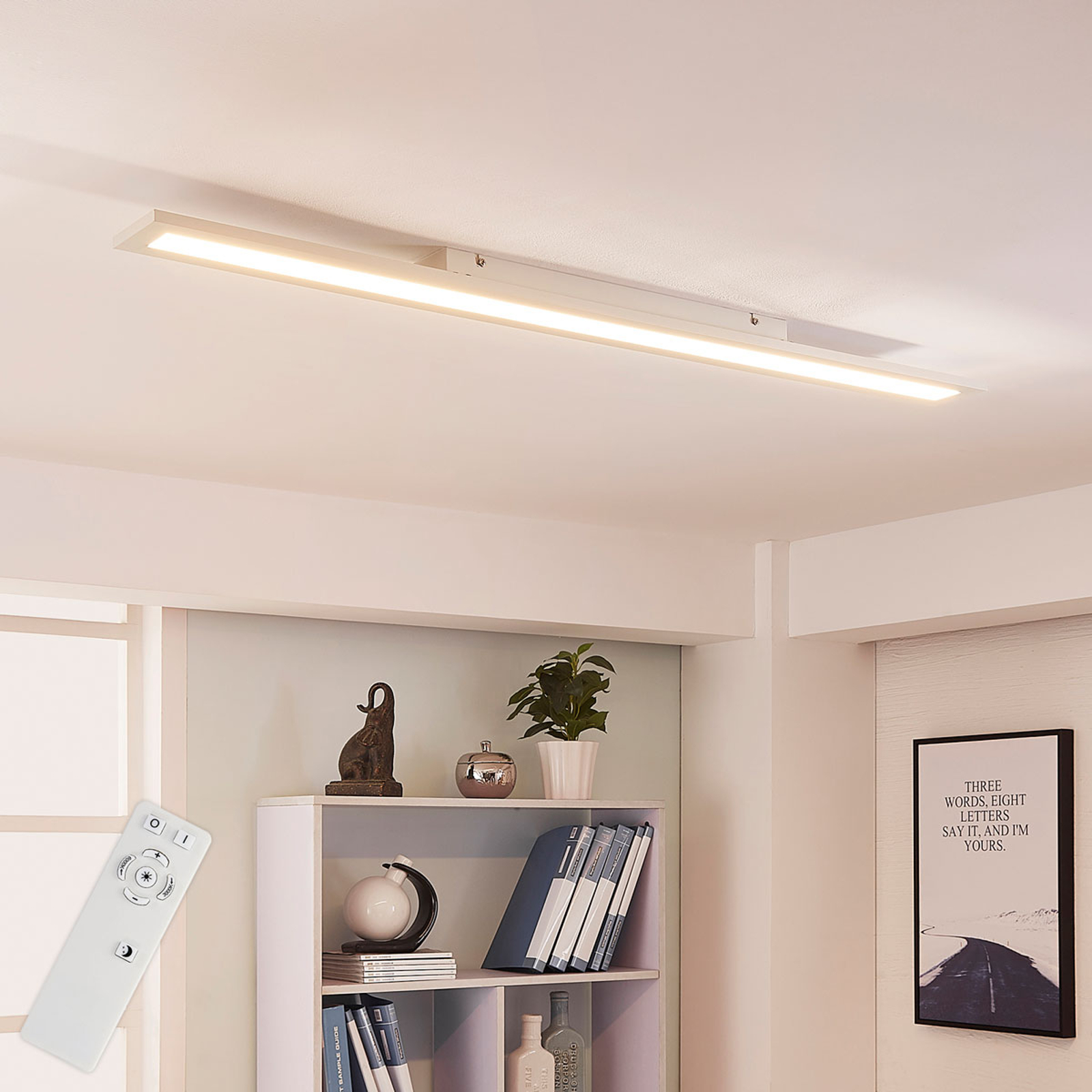 Arcchio Arya LED panel, stmívač, 119 cm x 10 cm