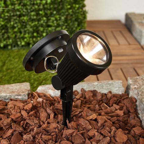 Reflector LED solar Eddie con pica de tierra