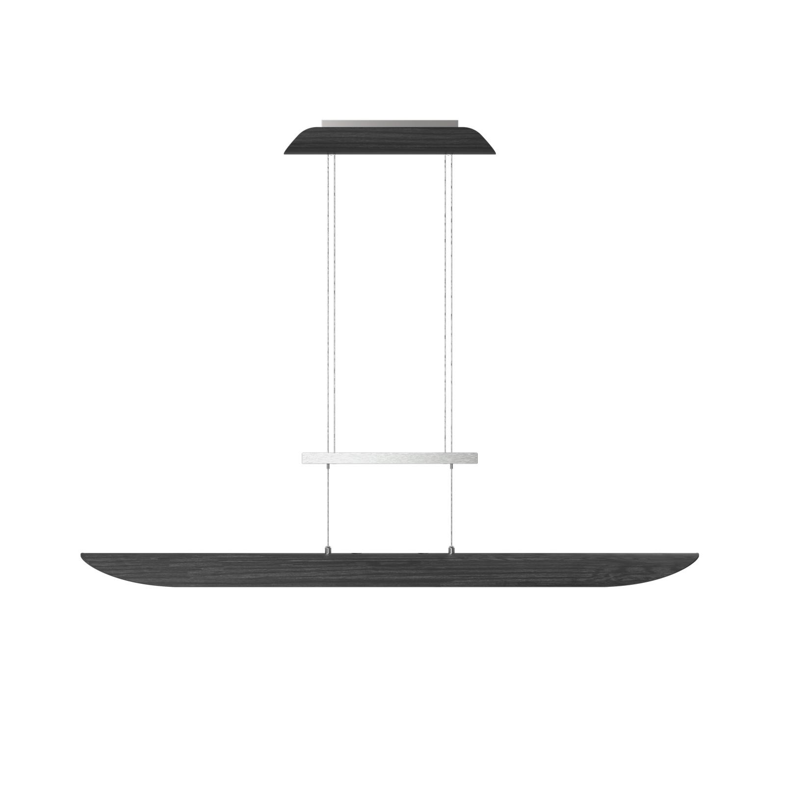 LED-Pendelleuchte Colombia XL, Eiche schwarz
