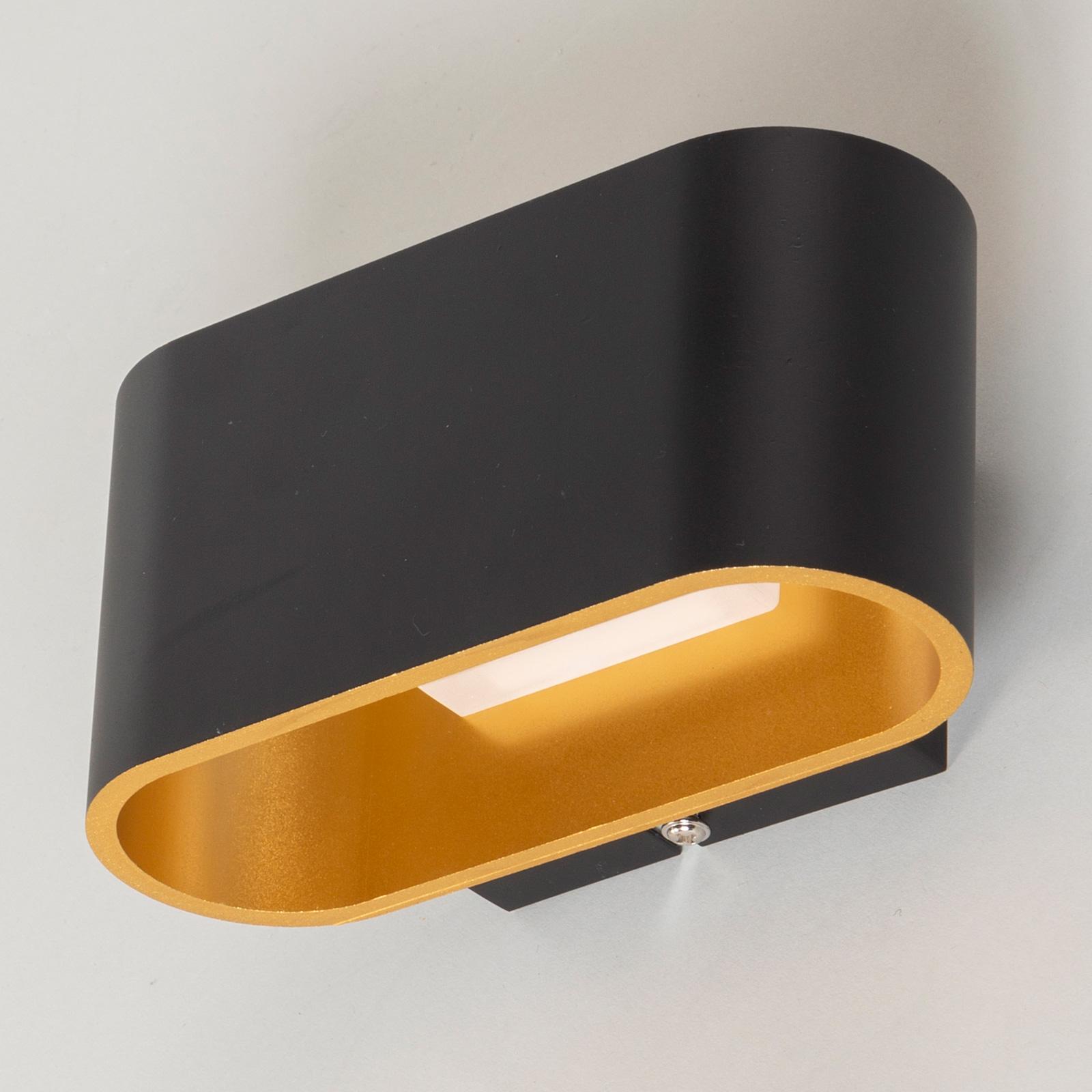 LED-Wandleuchte Denzel in Schwarz/Gold