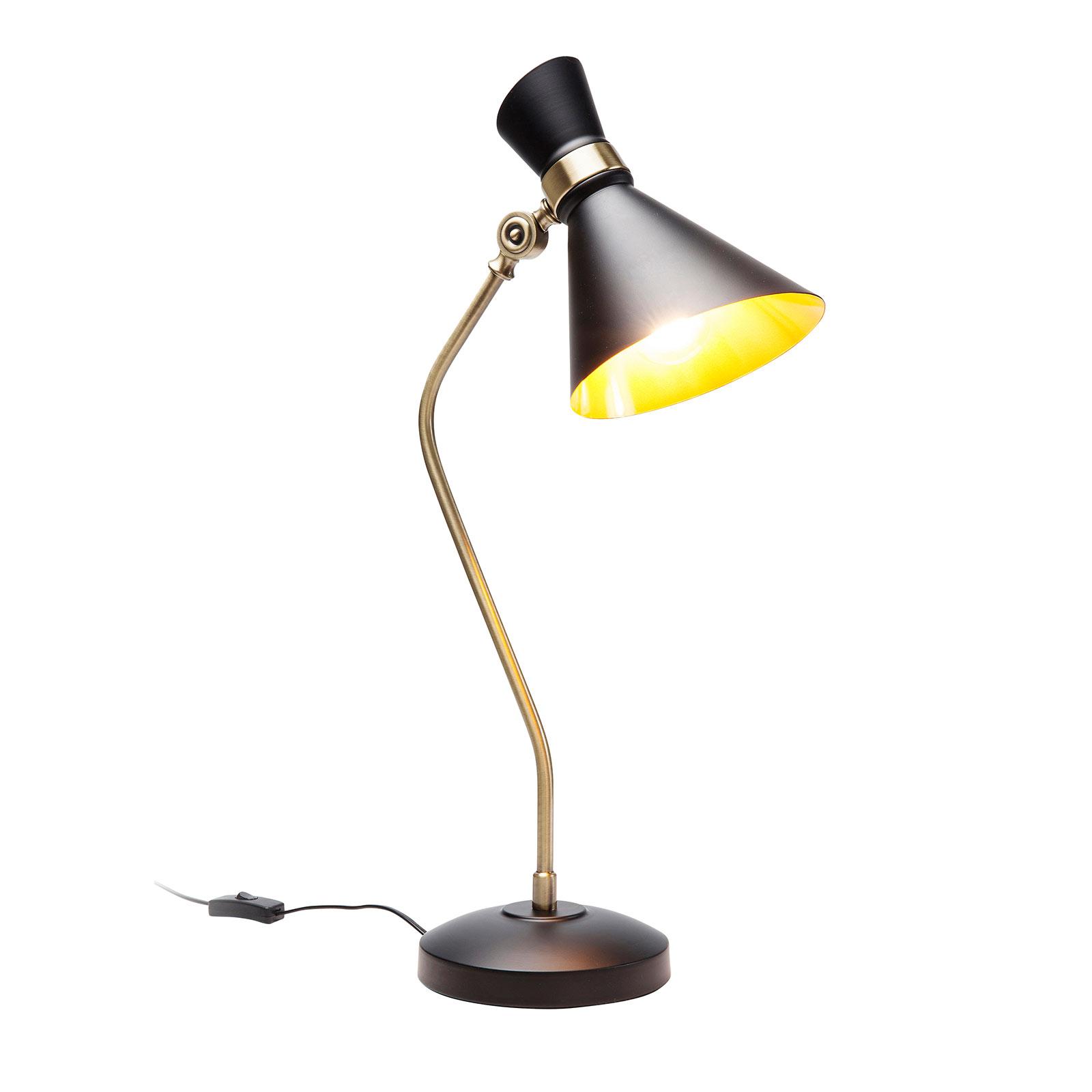KARE Skagen tafellamp in zwart/goud-design