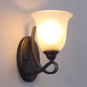 Nástěnné LED světlo Trisha, 1bod, tmavá čokoláda