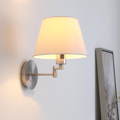 Materiałowa lampa ścienna POLA z wysięgnikiem