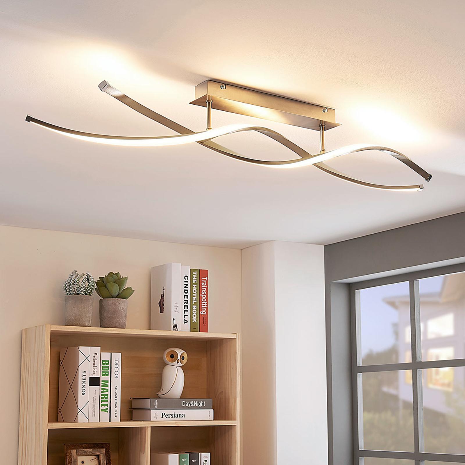 Spiralförmige LED-Deckenlampe Kati, dimmbar