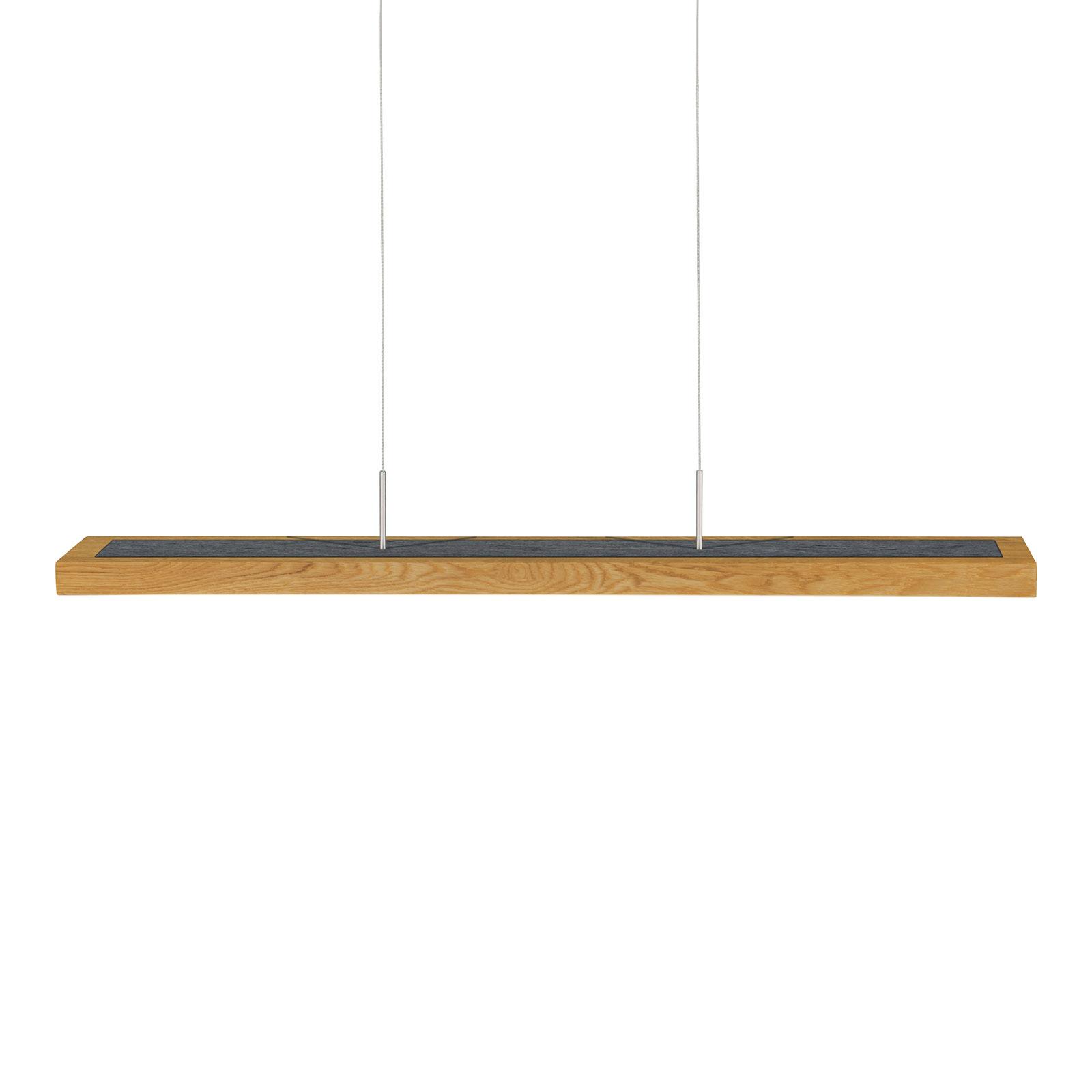 HerzBlut Dana lampa wisząca dąb łupek 90cm