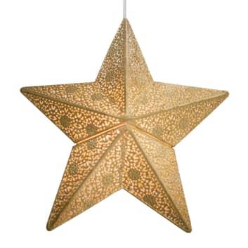 By Rydéns Etoile hengelampe, stjerne, 30 cm, gull