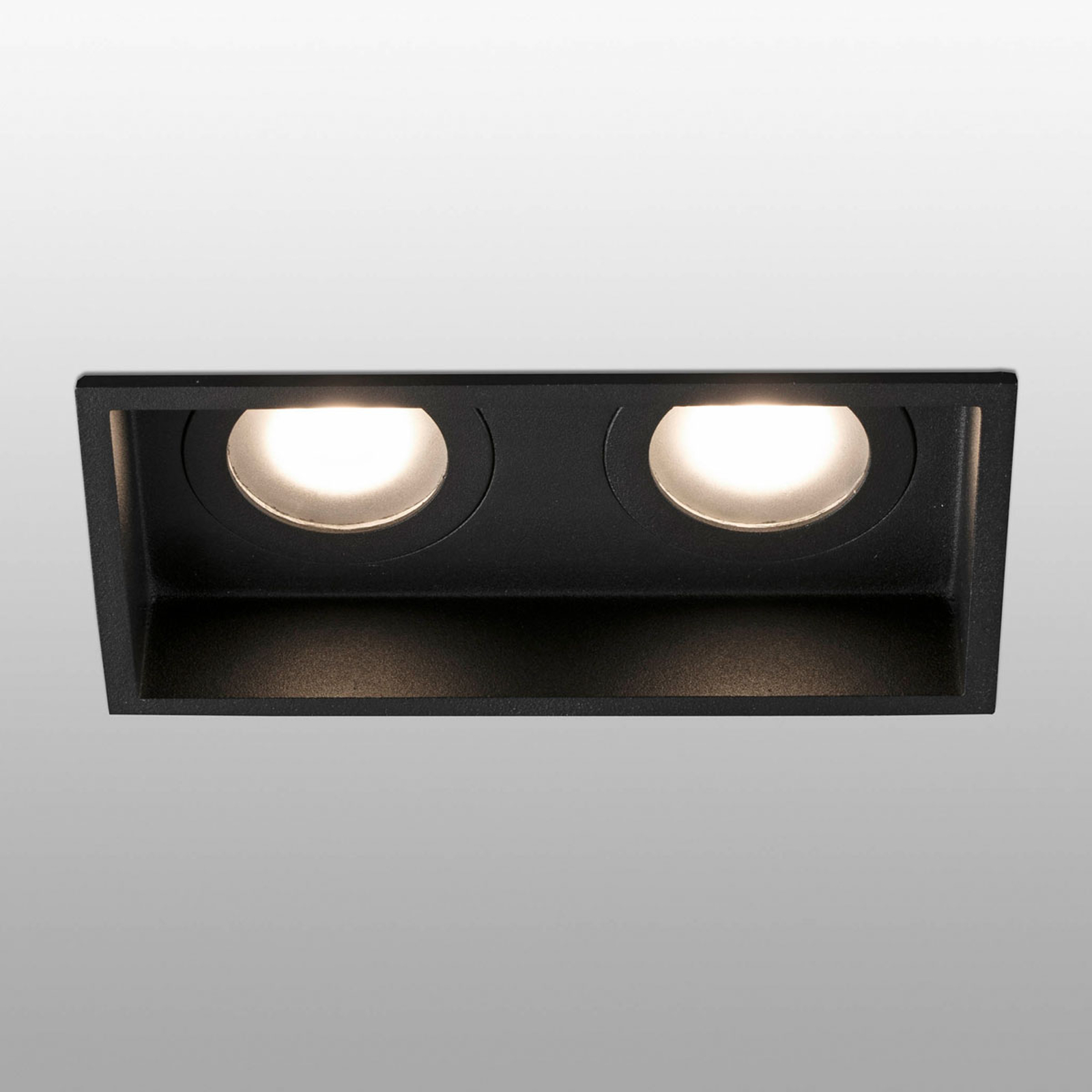 Spot incasso Hyde 2 luci IP44 nero