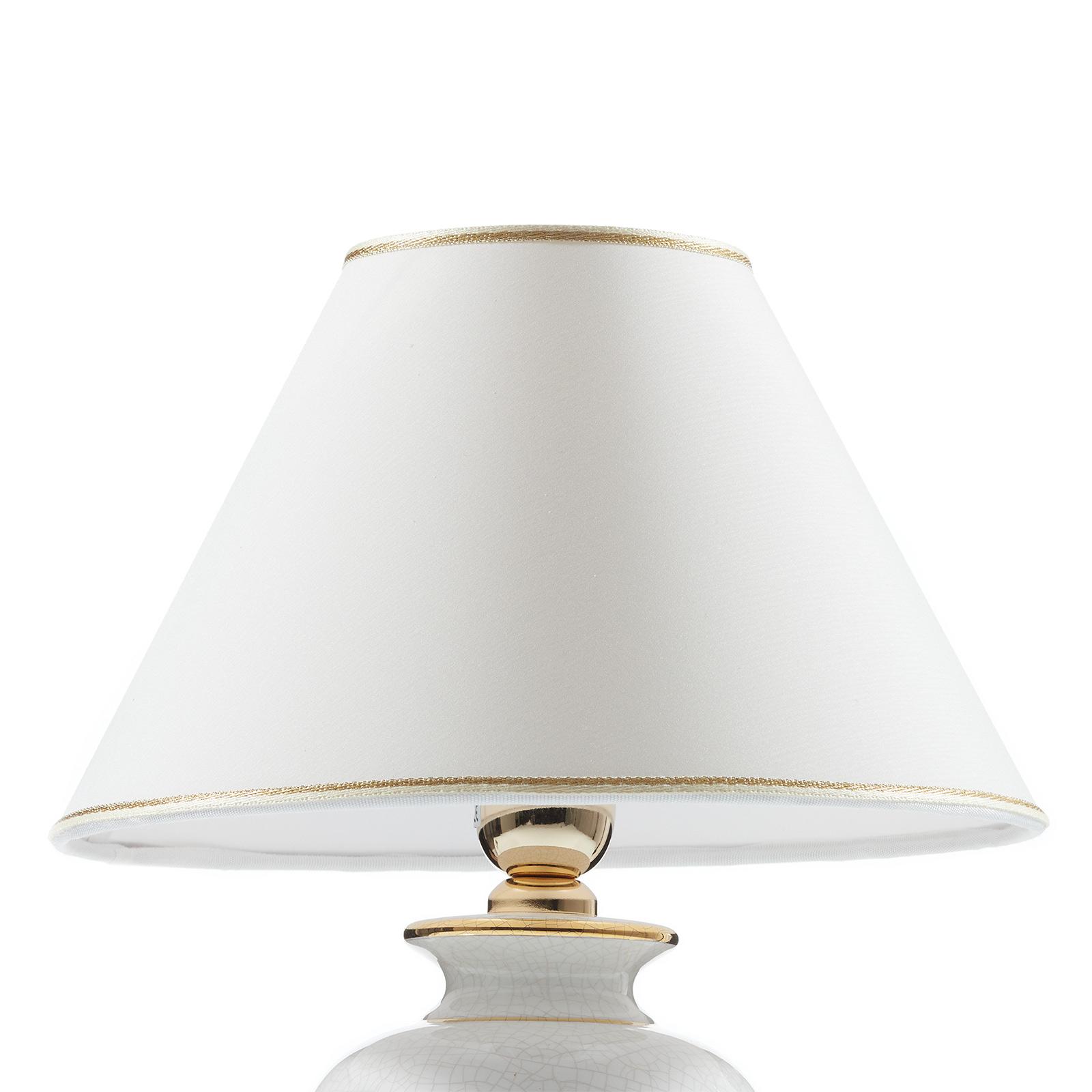 Kolarz Giardino Craclee White Table Lamp 30 Cm Lights Co Uk
