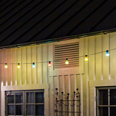 Guirlande Biergarten 10 ampoules LED colorées