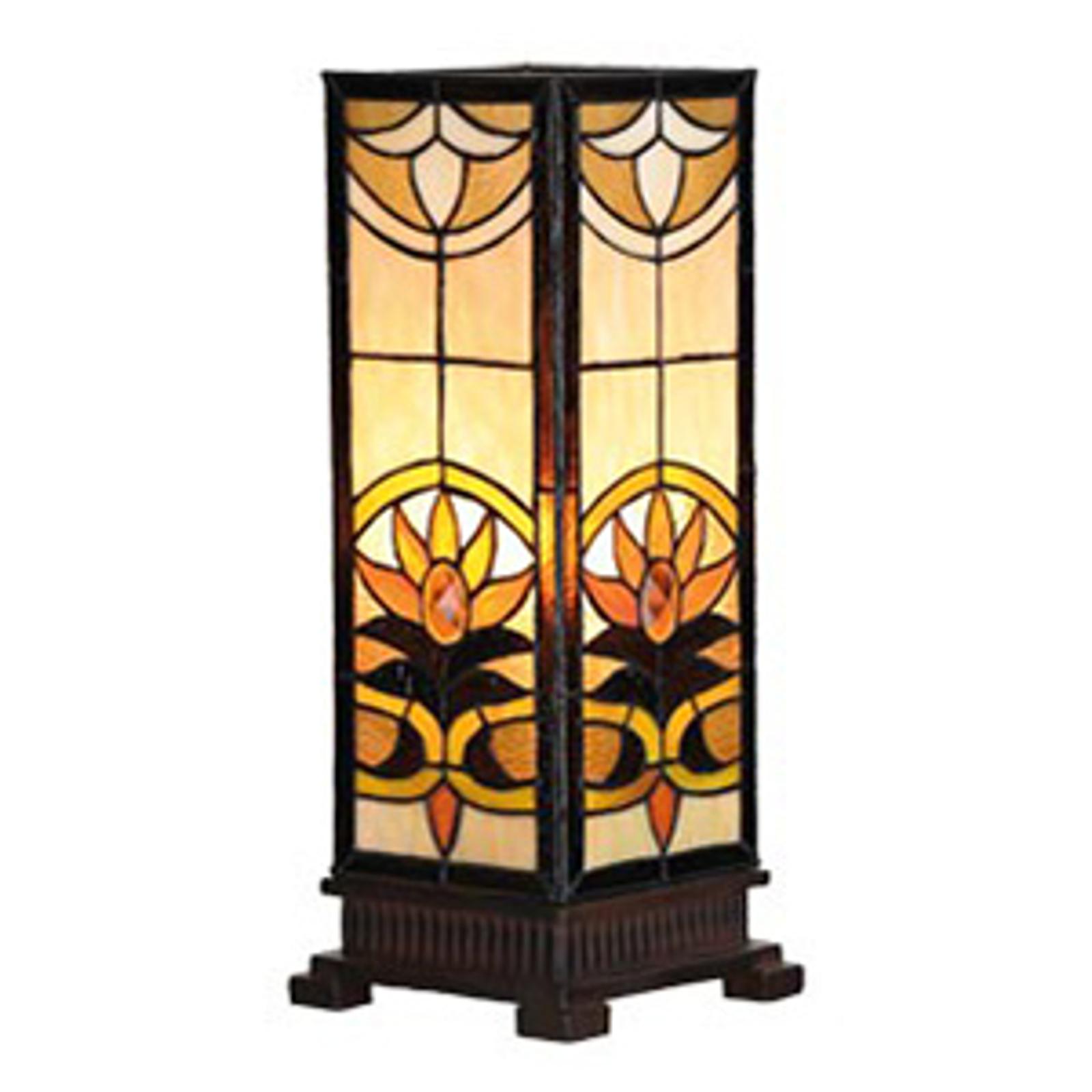 Lampada da tavolo angolare Sina in stile Tiffany