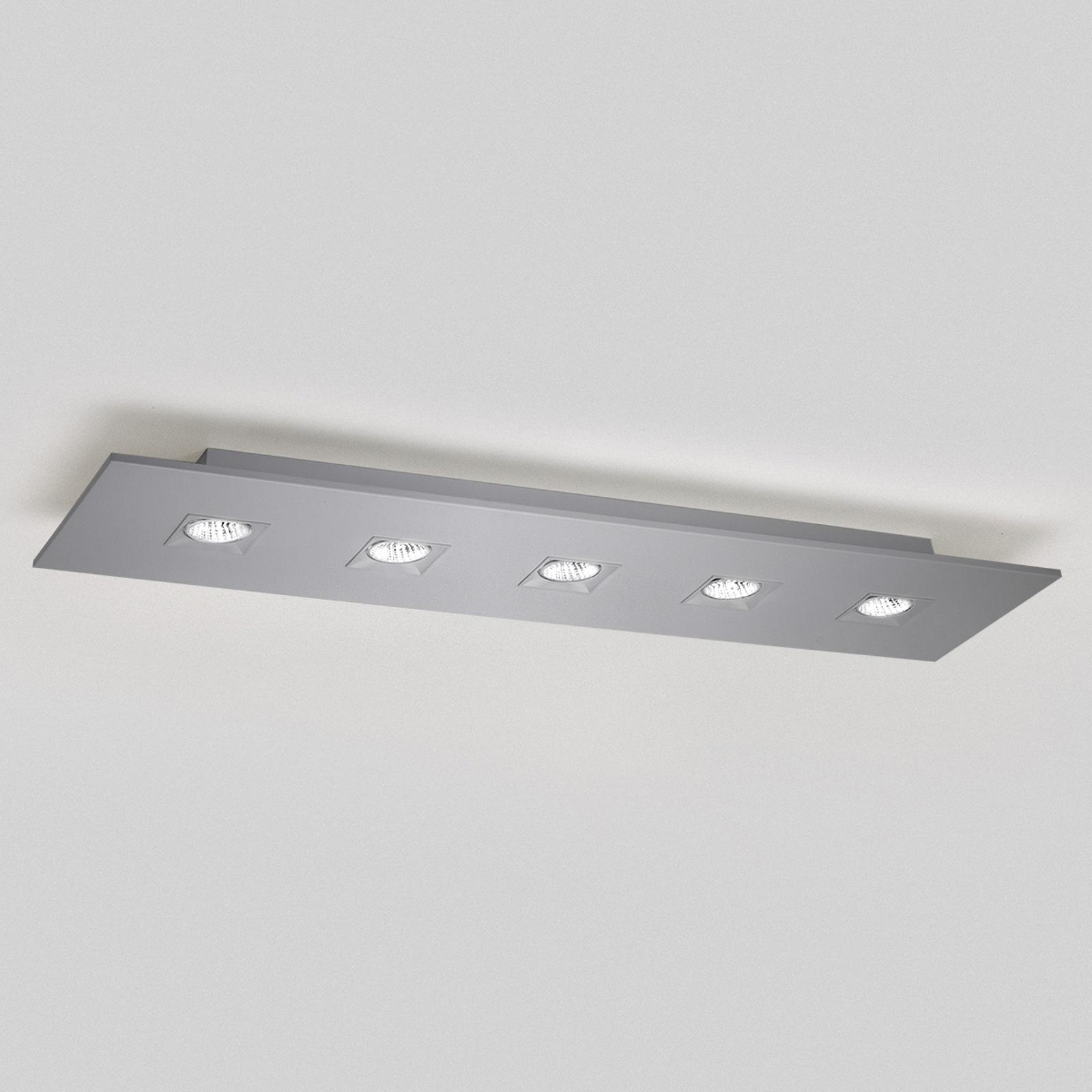 Taklampe Polifemo grå metallic 5 lys