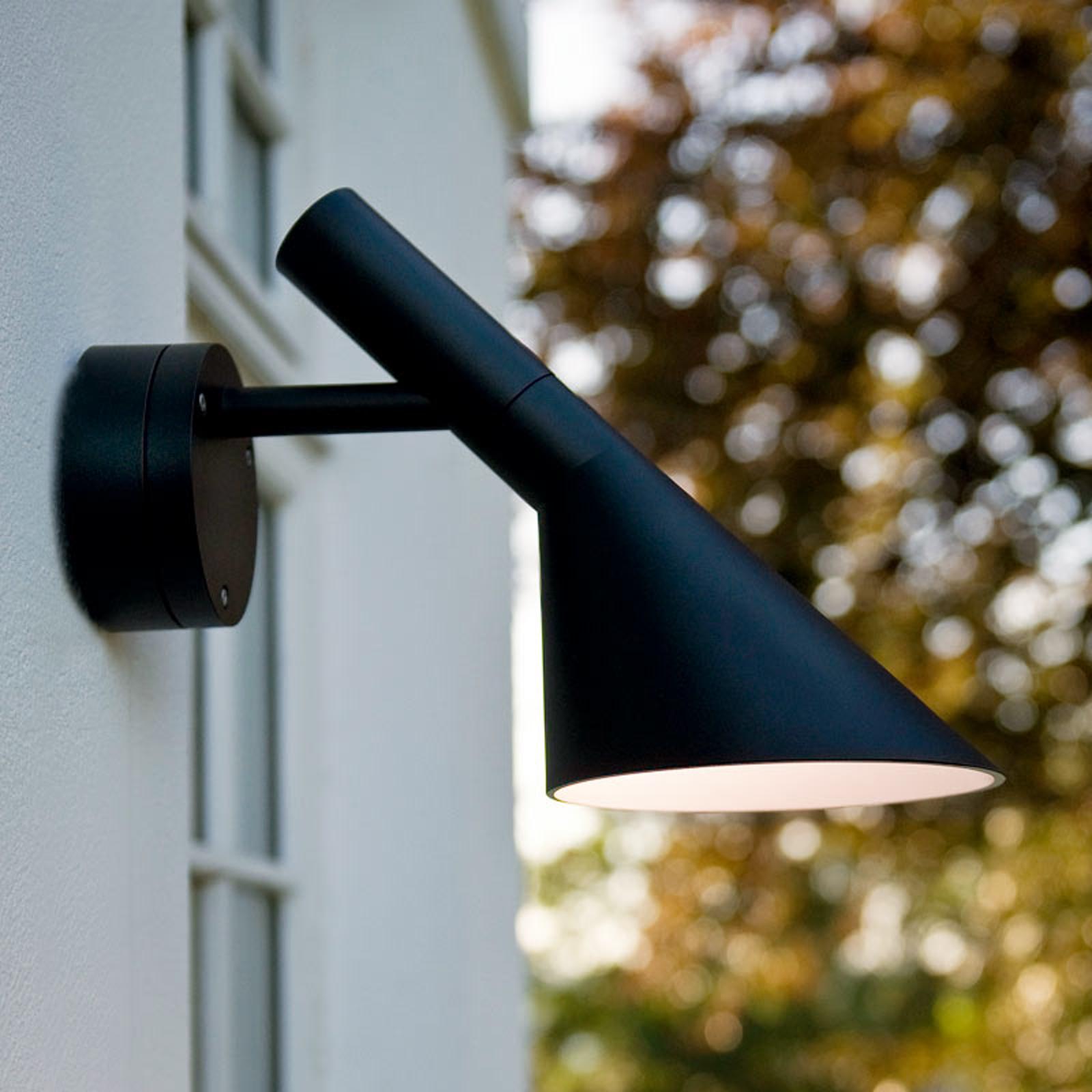 LED buiten wandlamp AJ 50, zw. gestructureerd