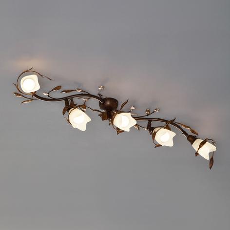 Plafondlamp CAMPANA met vijf lampjes, gebogen