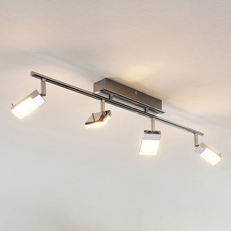 LED-kohdevalaisin Alija, kromattu, 4-lamppuinen