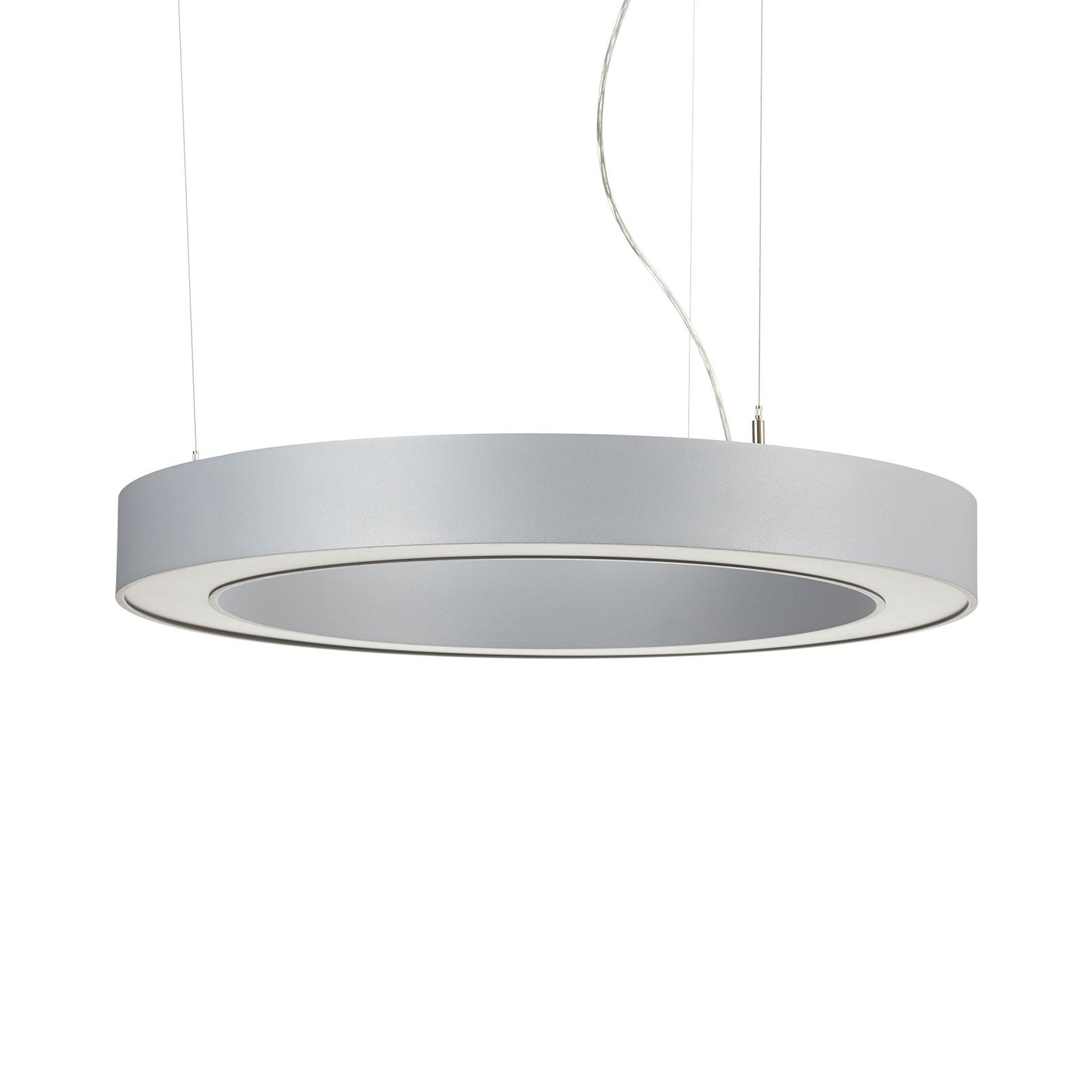 Arcchio Pietro LED-hængelampe, sølv, 70 cm, 45 W