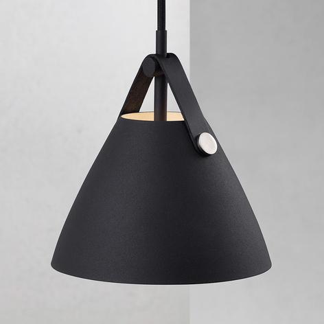 Lámpara colgante Strap, Ø 16,5 cm, negro
