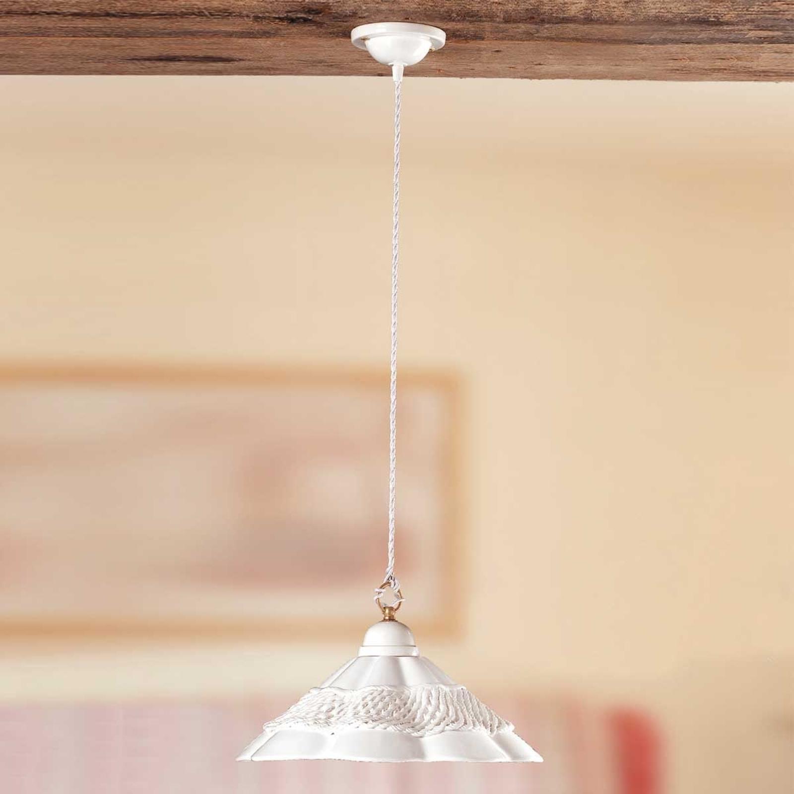 Hanglamp GONNELLA - met dec. rand in het midden