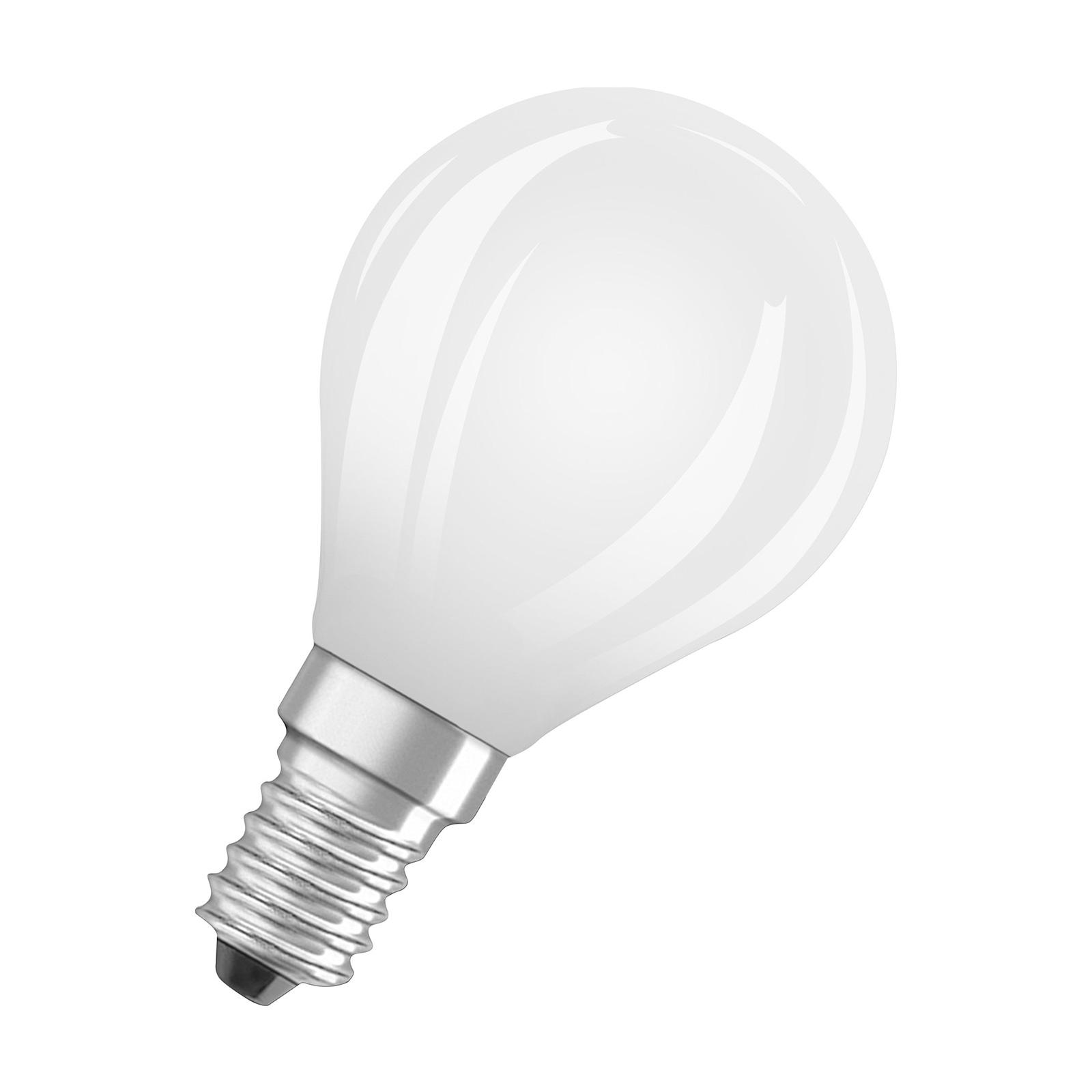 OSRAM LED-Tropfenlampe E14 5W matt 2.700K dimmbar